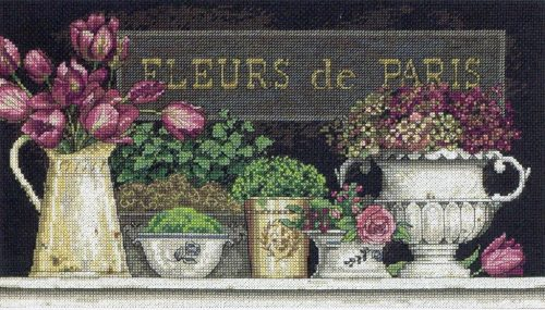 Вышивка flowers of Paris (Dimensions)