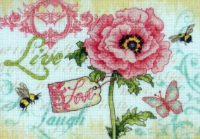 "Embroidery ""Live, Love, Laugh»"
