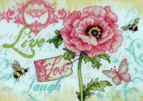 "Embroidery ""Live, Love, Laugh"""