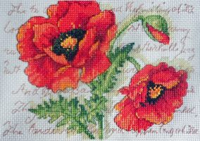 "Embroidery ""Poppy Pair"""