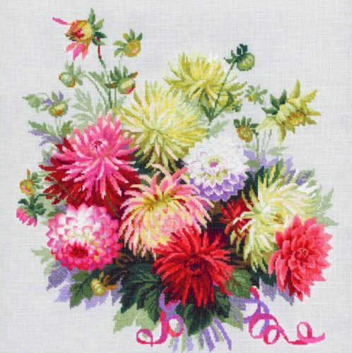 Embroidery Dahlias (Riolis)