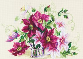 "Embroidery ""Clematis"""
