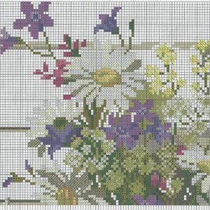 Embroidery scheme wildflowers (Riolis) 1 from 6