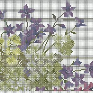 Embroidery scheme wildflowers (Riolis) 2 from 6