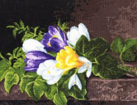 "Embroidery ""Crocuses"""