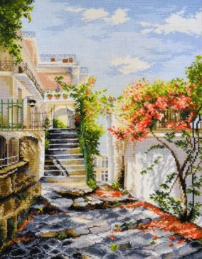 "Embroidery ""Italian courtyard"""