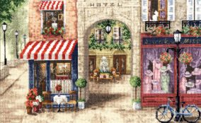 "Embroidery ""Paris Street"""