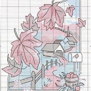 Four seasons embroidery scheme (Dimensions) 1 from 4