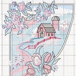 Four seasons embroidery scheme (Dimensions) 4 from 4