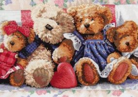 "Embroidery ""Family of bears"""