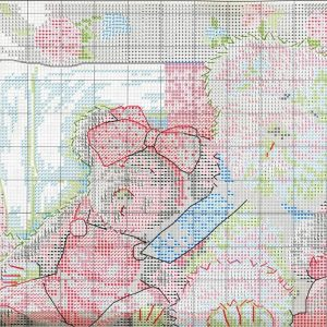 Embroidery bears Collection scheme (Dimensions) 1 from 2