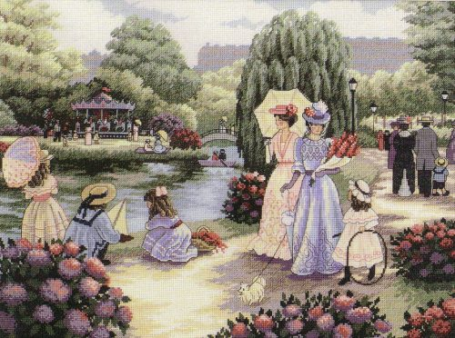 Embroidery walk in the Park (Dimensions)
