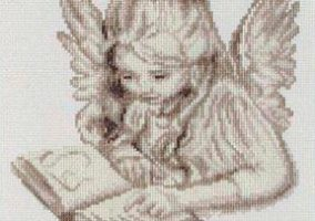 "Broderie ""Angel Reading"""