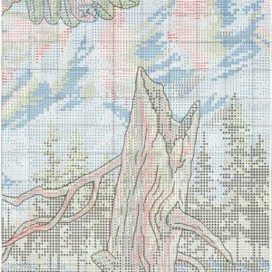 Rainbow embroidery scheme and soaring Eagle (Dimensions) 4 from 4