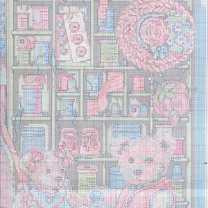 Embroidery scheme bears and buttons (Dimensions) 3 from 6