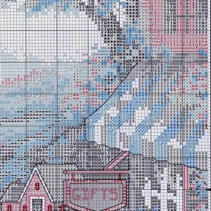 Embroidery scheme Café near the sea (Dimensions) 3 from 6
