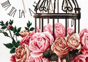 "Bordado ""Cage, Rose"""