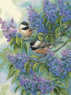 Tits and lilacs