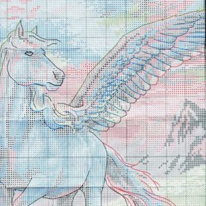 Diagramm der Stickerei Magic Pegasus (Abmessungen) 2 Von 6