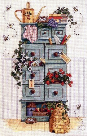 Embroidery Garden locker (Dimensions)