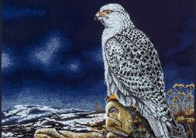Stickerei «Gyr Falcon»