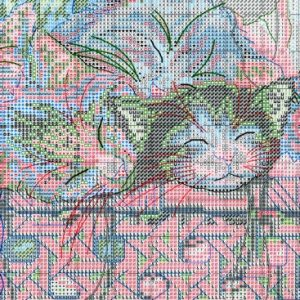 Embroidery scheme Newborn kittens (Dimensions) 3 from 3