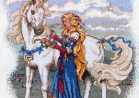 "Broderie ""Lady and the Unicorn"""