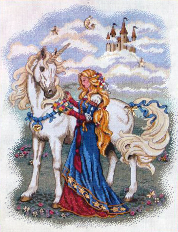 Вышивка Lady and the Unicorn (尺寸)