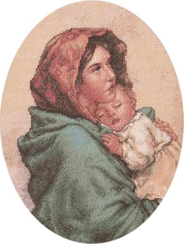 Embroidery Mother and Child (Bucilla)