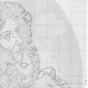 Embroidery mother and child scheme (Bucilla) 2 from 4