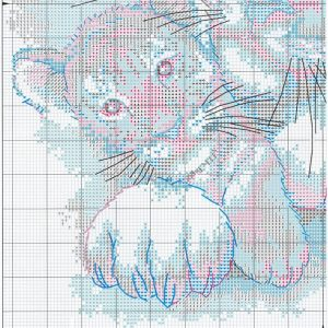 Embroidery scheme Siberian Tiger (Dimensions) 3 from 4