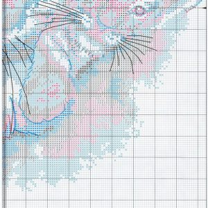 Embroidery scheme Siberian Tiger (Dimensions) 4 from 4