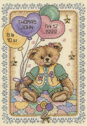 "Embroidery ""Children's metric with bears"""