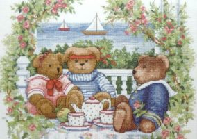 "Embroidery ""Teddy Teatime"""