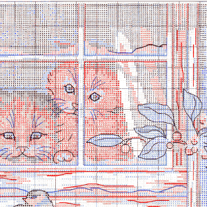 Embroidery scheme Three observers (Dimensions) 2 from 4