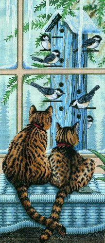Embroidery Who's watching who? (Dimensions)