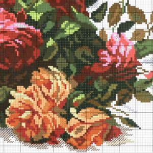 Diagram of the embroidery of roses (Alice) 4 from 4