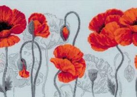 "Embroidery ""Scarlet poppies"""