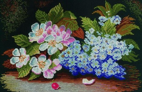 Blossom and lilac embroidery (RTO)