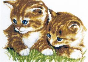 "Embroidery ""Two kittens"""