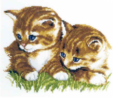 Embroidery two kittens (Vervaco)