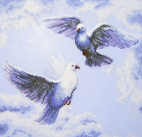 Embroidery Doves