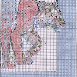 Diagram of embroidery big cat (Dimensions) 4 from 4