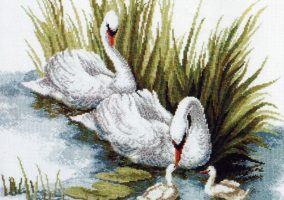 "Bordado ""Cisnes"""