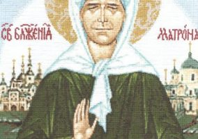 Icon of the Blessed Matrona av Moskva