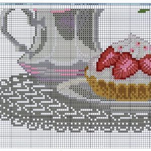Embroidery scheme still life with tulips (Riolis) 5 from 6