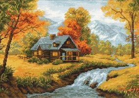 "Broderie ""Paysage d'automne"""
