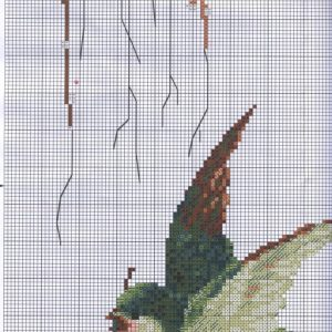 Birds of paradise embroidery scheme (Riolis) 3 from 6