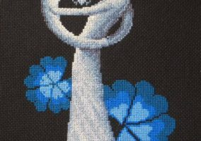 Cross stitch fødsel»