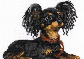 "Broderi ""Russisk toy terrier"""